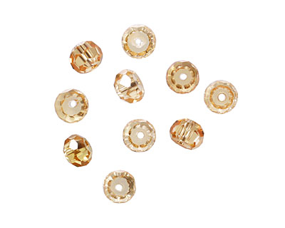 Champagne Faceted Rondelle 4x6mm