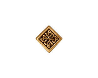 TierraCast Antique Gold (plated) Medium Celtic Diamond Bead 14mm