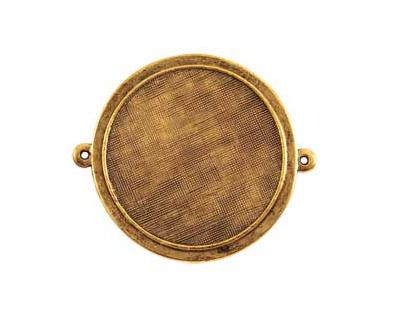 Nunn Design Antique Gold (plated) Raised Bezel Large Circle Link 44x38mm
