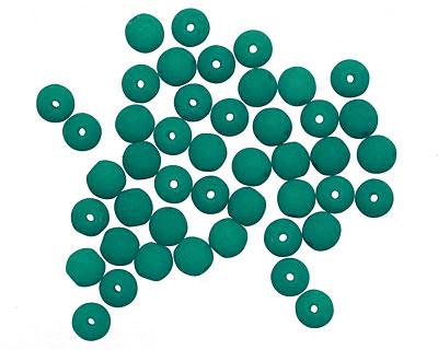 Czech Glass Dark Neon Emerald Round 4mm