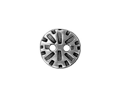 TierraCast Antique Pewter (plated) Round Radiant Button 15mm
