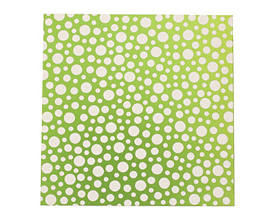 Lillypilly Lime Green Scattered Dots Anodized Aluminum Sheet 3