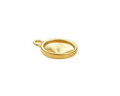 TierraCast Gold (plated) Faceted Drop 14x17mm