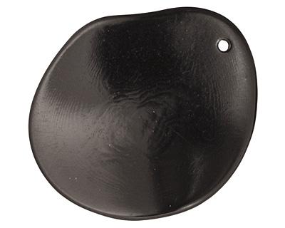 Tagua Nut Black Potato Chip 30-37x37-47mm