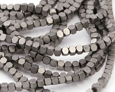 Concrete Hematite (matte) Hexcut Cube 3x3mm