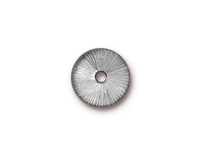 TierraCast Rhodium (plated) Large Hole Radiant Bead Cap 3x13mm