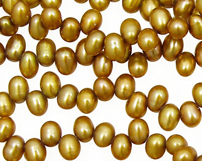 Gold Dancing Drops 6.5-8mm