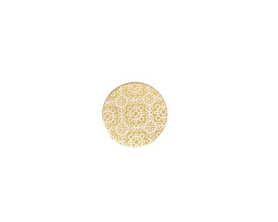 Lillypilly Gold Baroque Anodized Aluminum Disc 11mm, 22 gauge