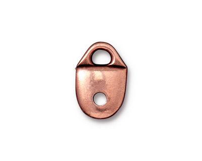 TierraCast Antique Copper (plated) Plain Strap Tip 17x11mm