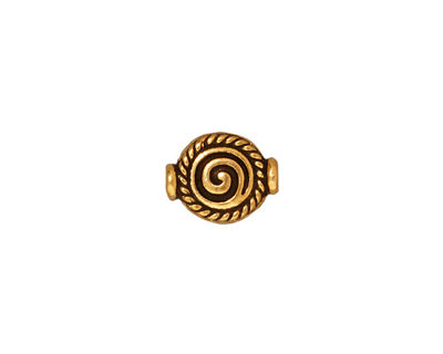 TierraCast Antique Gold (plated) Fancy Spiral Bead 12x9mm