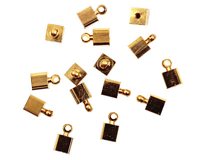 Memory Wire Gold (plated) Cube w/ Ring Endcap 7x4mm