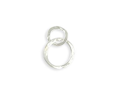 Vintaj Sterling Silver (plated) Linked Hammered Rings 17x24mm