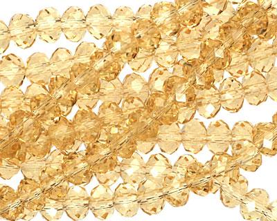 Light Topaz Crystal Faceted Rondelle 4mm