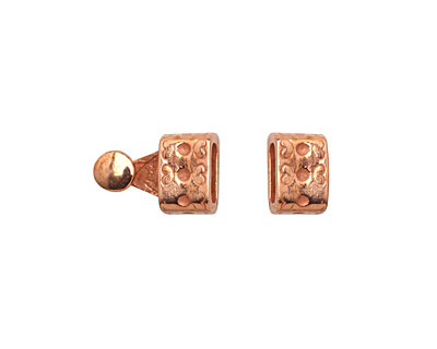 Copper (plated) Hearts Clasp 16x7mm