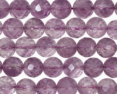 Amethyst (light) Faceted Round 8mm