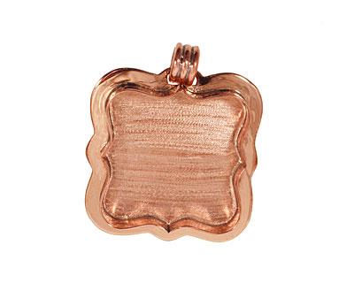 Copper Antique Square Bezel 37mm