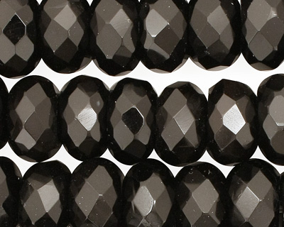 Black Onyx Faceted Rondelle 14mm