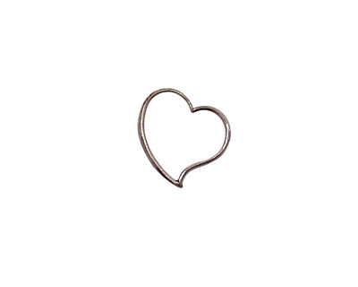 Stampt Antique Pewter (plated) Cutout Heart 12mm