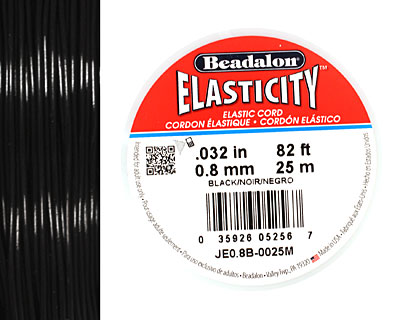 Elasticity Black .8mm, 25 meters