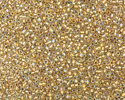 TOHO Crystal (with Gold Lining) Round 15/0 Seed Bead