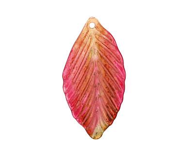 Vintage Meadow Acrylic Hibiscus Birch Leaf 19x36mm