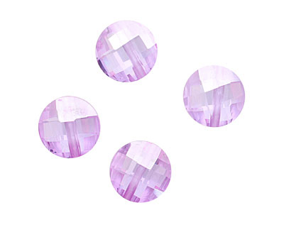 Lilac Faceted Coin 10mm