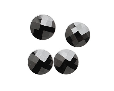 Onyx Faceted Coin 10mm