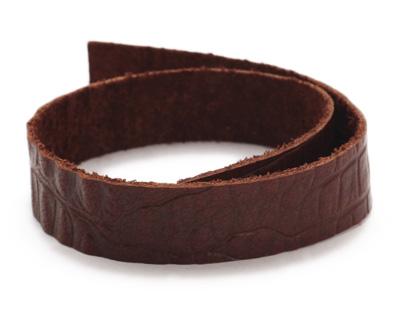 TierraCast Cognac Hornback Leather Strap 10