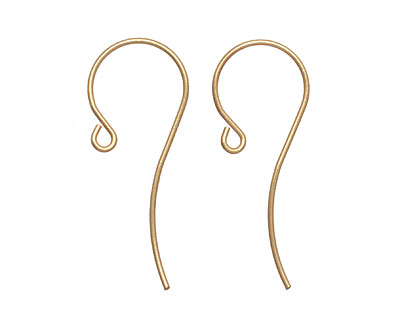 Satin Hamilton Gold (plated) French Earwire 13x33mm