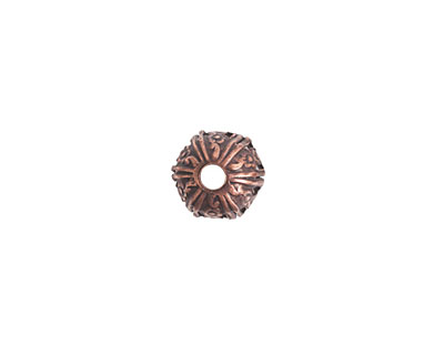Nunn Design Antique Copper (plated) Crown Bead Cap 6x10mm
