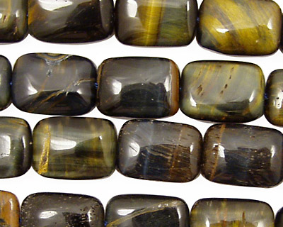Blue Tiger Eye Thin Pillow 14x10mm