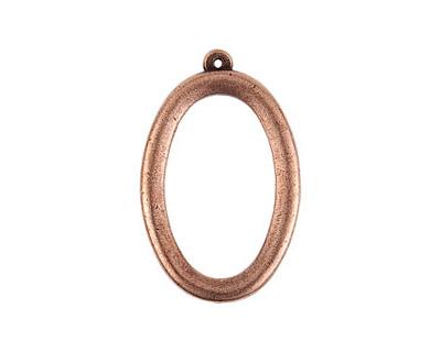 Nunn Design Antique Copper (plated) Grande Oval Pendant 26x41mm