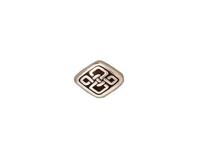 TierraCast Antique Silver (plated) Long Celtic Diamond Bead 11x8mm