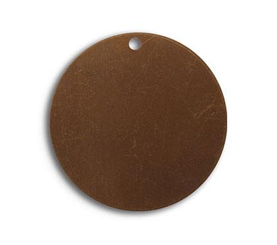 Vintaj Natural Brass Circle Altered Blank 29mm