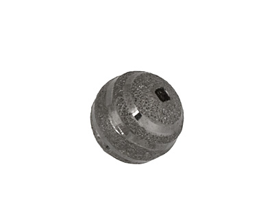Gunmetal Striped Round 15mm