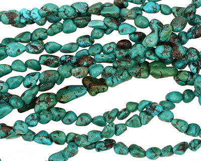 Chinese Turquoise Tumbled Nugget 4-6x4-5mm