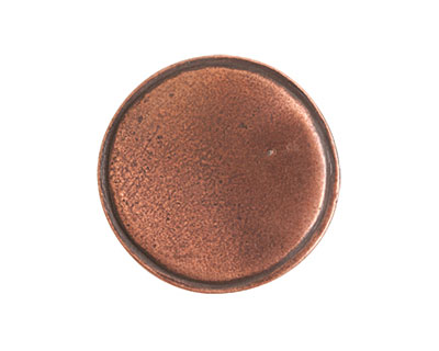 Nunn Design Antique Copper (plated) Crest Circle Tag 20.5mm