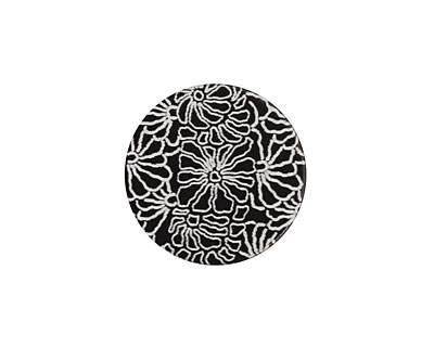 Lillypilly Black Weathered Daisy Anodized Aluminum Disc 19mm, 22 gauge