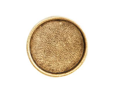 Nunn Design Antique Gold (plated) Large Circle Screw Back Bezel 23mm