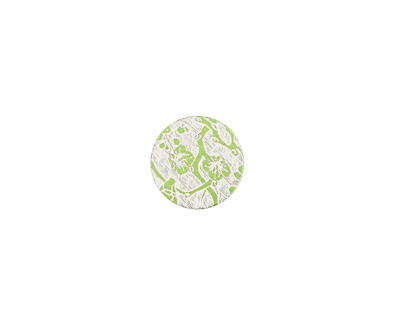 Lillypilly Lime Green Cherry Blossom Anodized Aluminum Disc 11mm, 24 gauge