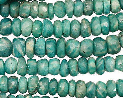 Russian Amazonite Faceted Rondelle 5-7mm