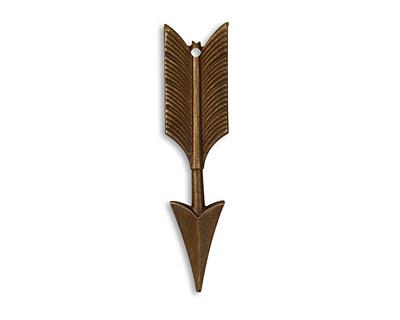 Vintaj Natural Brass Feathered Arrow Pendant 11x45mm