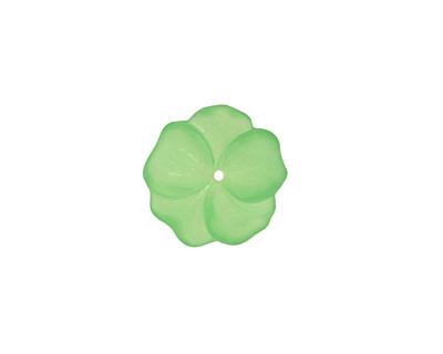 Matte Peridot Lucite Buttercup Flower 4x14mm