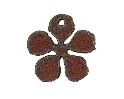The Lipstick Ranch Rusted Iron Small Daisy Pendant 25mm
