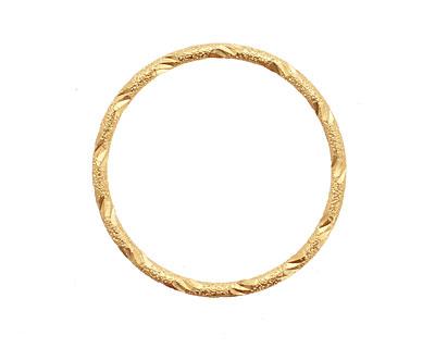Satin Hamilton Gold (plated) Embellished Ring 34mm