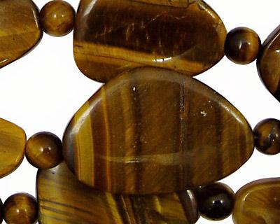 Tiger Eye Freeform Pieces 25-32x20-22mm
