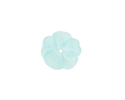 Matte Aqua Lucite Buttercup Flower 4x14mm