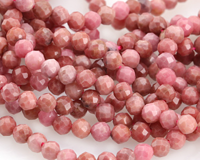 Rhodonite Faceted Round 3.5-4mm