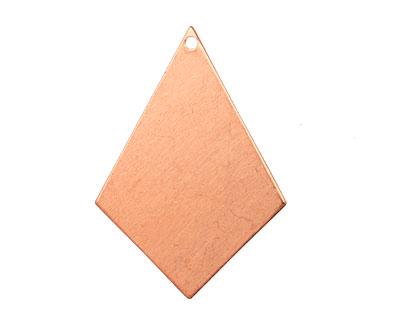 Copper Diamond Drop Blank 22x31mm