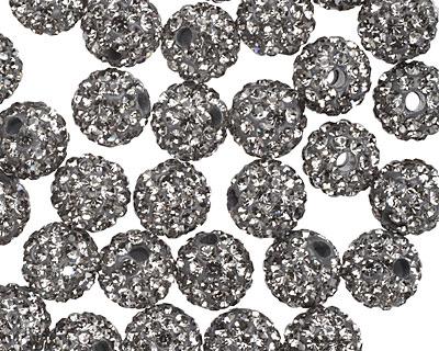 Black Diamond Pave (w/ Preciosa Crystals) Round 8mm